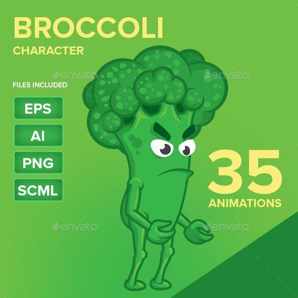 Green Broccoli Character Sprites
