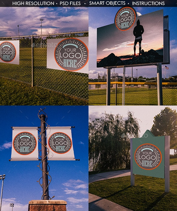Banners and Signs Mockup Templates  - Signage Print