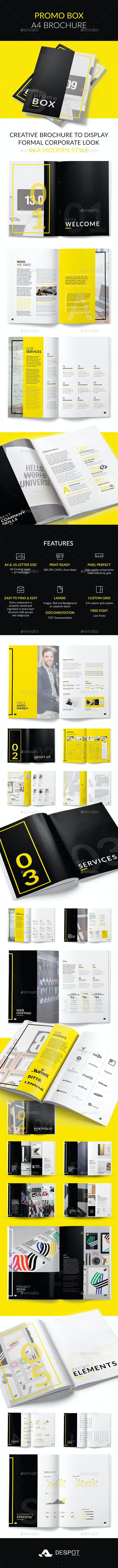 Promo BOX A4 Brochure - Brochures Print Templates