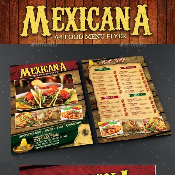 Mexicana Food Menu Flyer