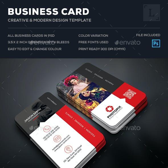 Creative Photography Business Card