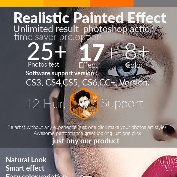 Realistic Painted Effect