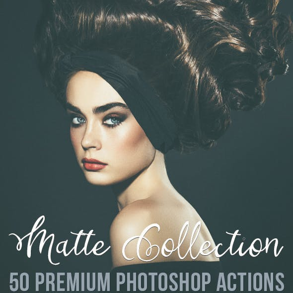 50 Premium Matte Photoshop Actions