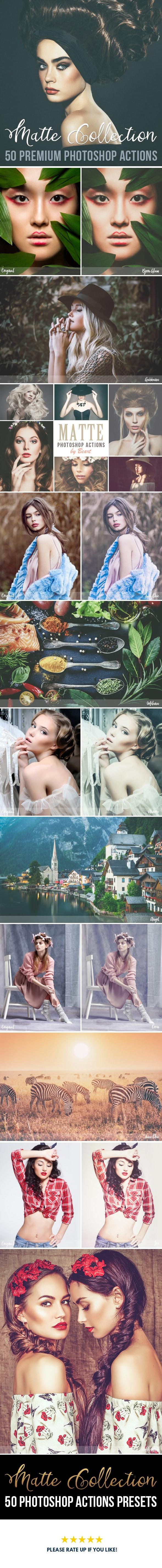 50 Premium Matte Photoshop Actions - Actions Photoshop