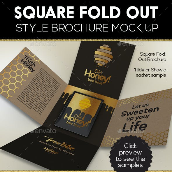 Square Fold Out Style Brochure