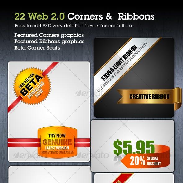 Web Ribbons & Corner Graphics