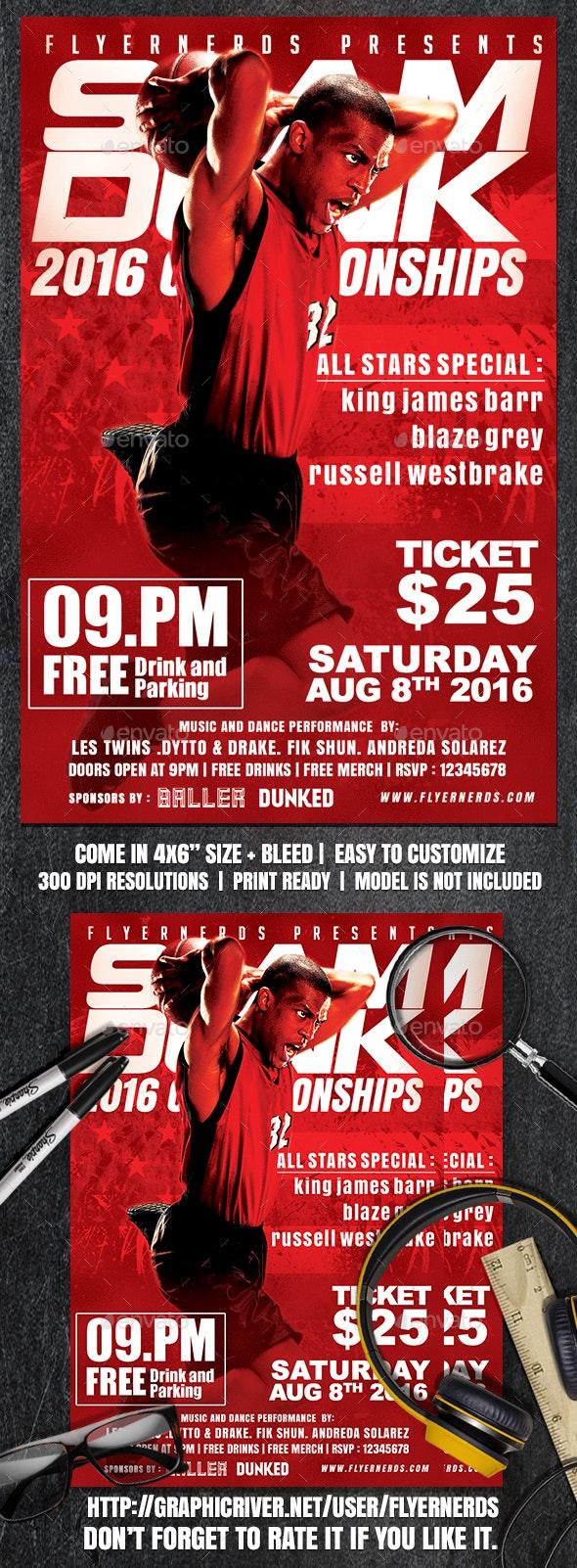Slamdunk Basketball Sports Flyer - Sports Events