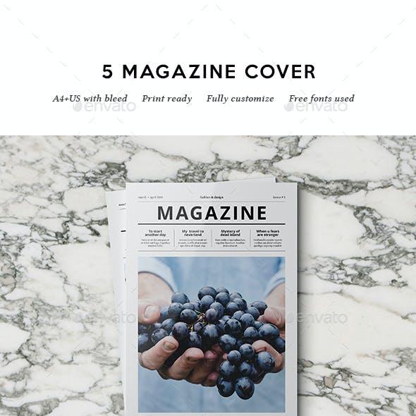 5 Magazine Covers