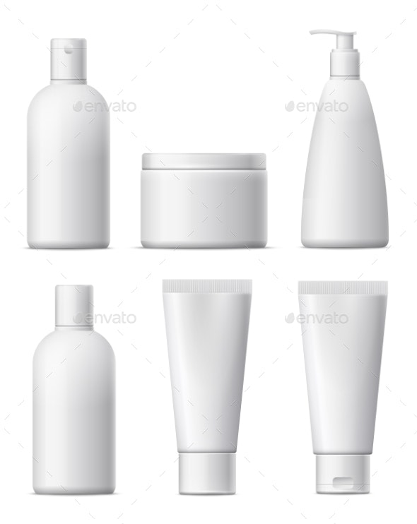 Blank Cosmetic Package Set. - Man-made Objects Objects
