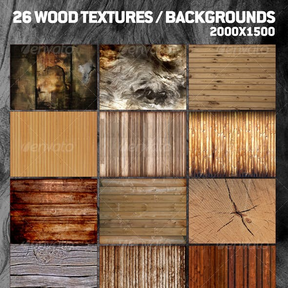 26 Cool Wood Textures / Backgrounds