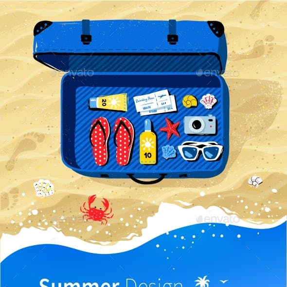 Summer Vacation Flyer Design