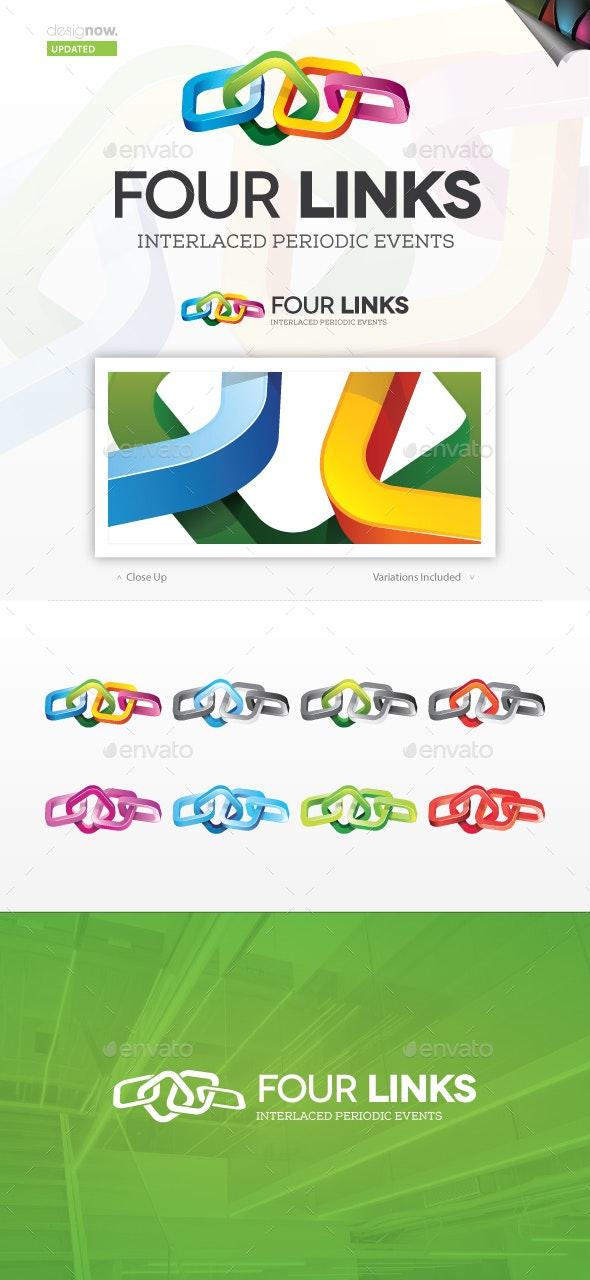 Four Links Logo - Abstract Logo Templates