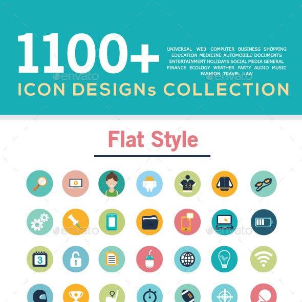 Flat icons set, icon design