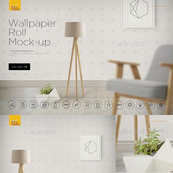 Wallpaper Roll Mock-up