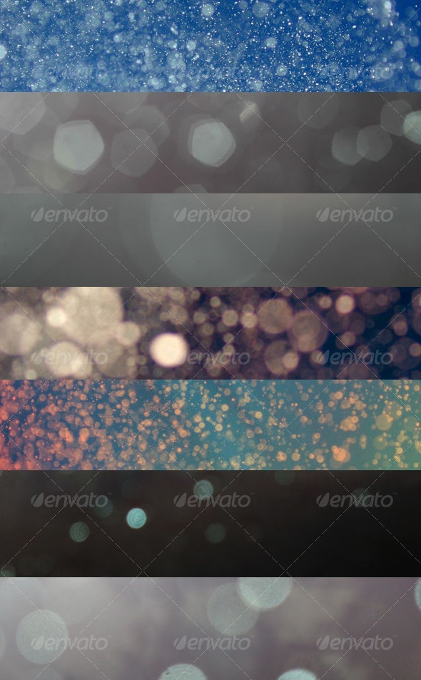 7 Bokeh Textures - Abstract Textures