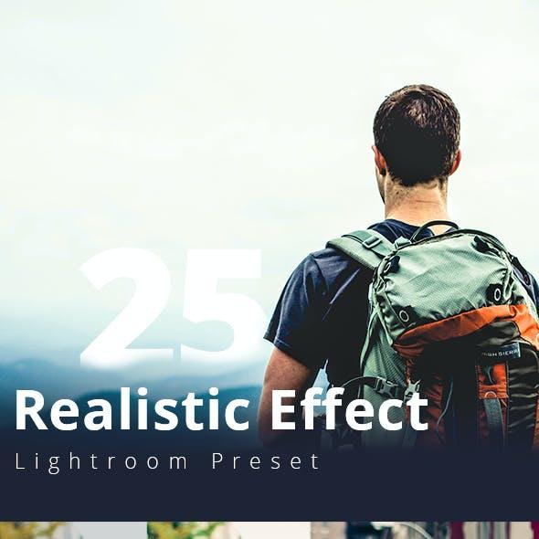 Realistic Effect 25 Lightroom Preset