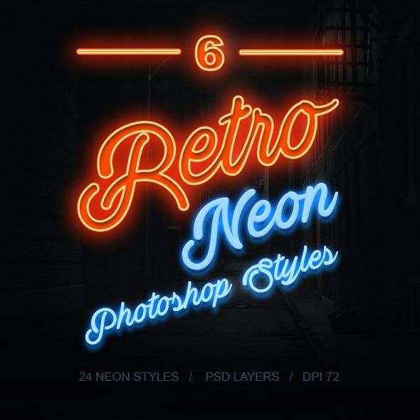 6 Retro Neon Styles