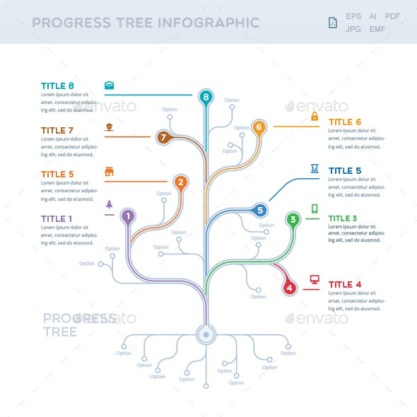 Progress Tree Infographic