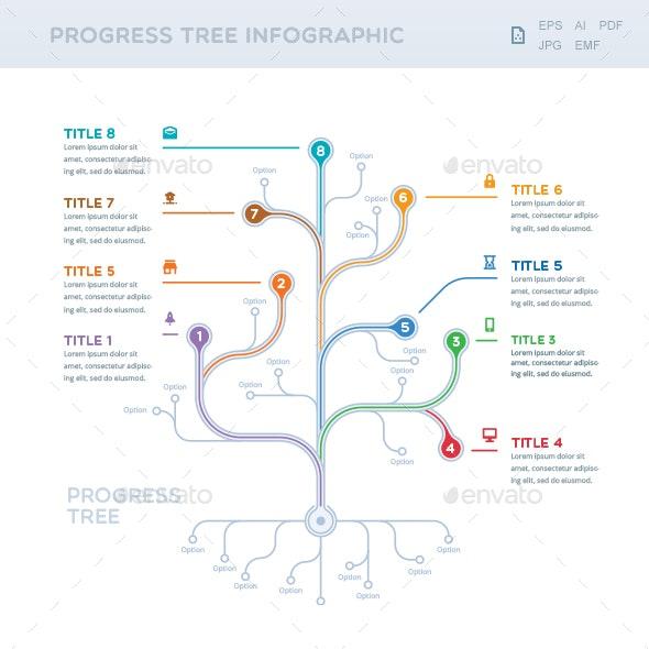 Progress Tree Infographic - Infographics