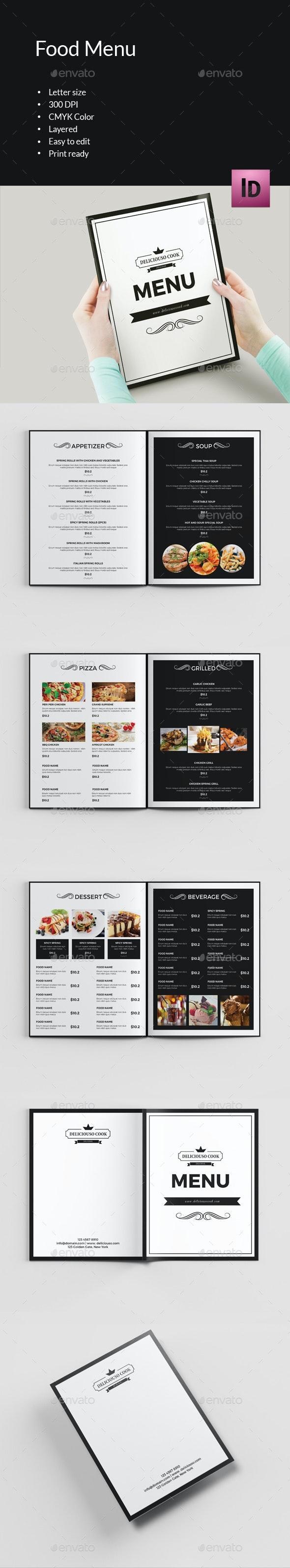 Food Menu Brochure-V396 - Food Menus Print Templates