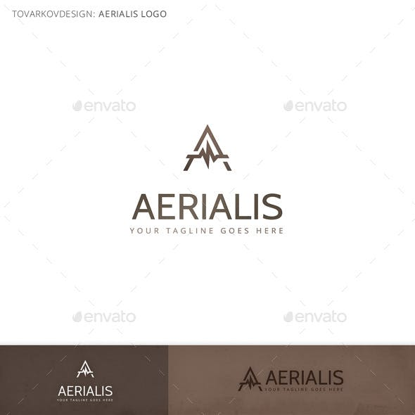 Aerialis Letter A Logo Template