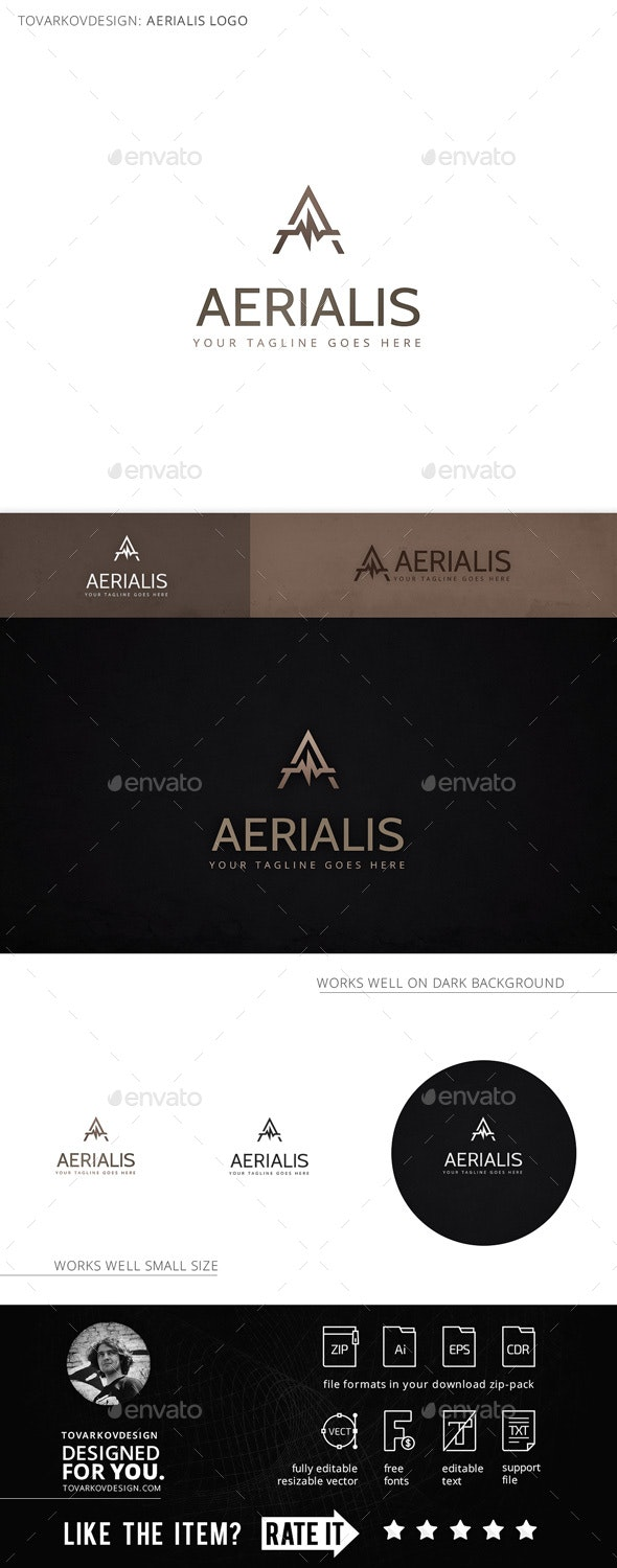Aerialis Letter A Logo Template - Letters Logo Templates
