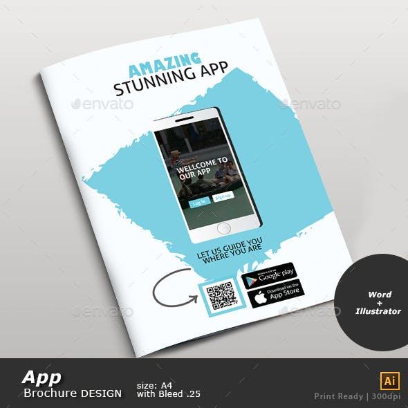 App Brochure Double Spreed Design