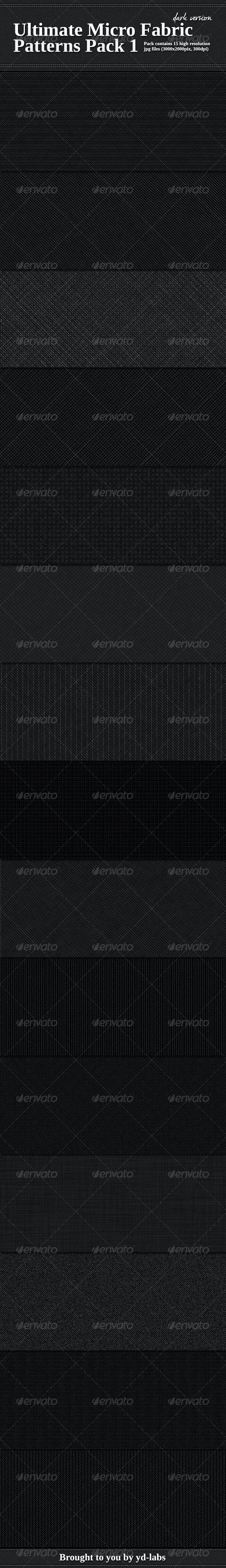 Ultimate Micro Fabric Patterns Pack 1 - Fabric Textures