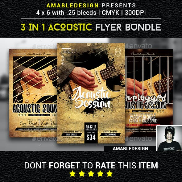 3 in 1 Acoustic Flyer/Poster Vol.2