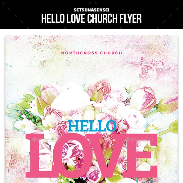 Hello Love Church Flyer