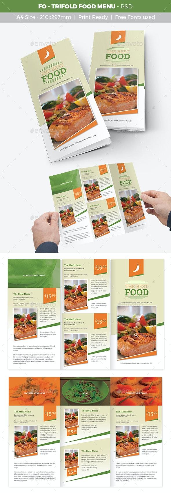 FO - Trifold Food Menu - Food Menus Print Templates