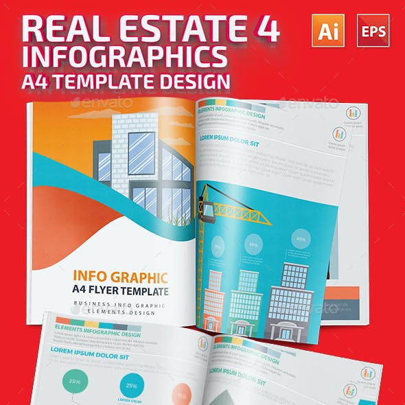 Real estate 4 infographic Design