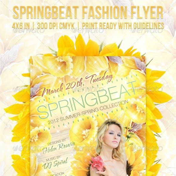 Springbeat Spring Fashion Flyer