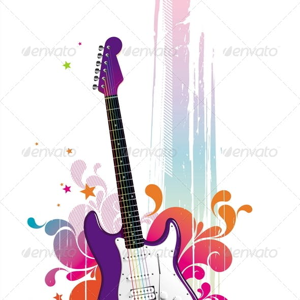 Abstract Illustration With Guitar