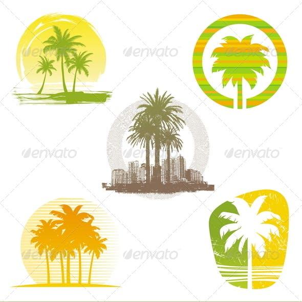 Palm Tree Emblems & Labels