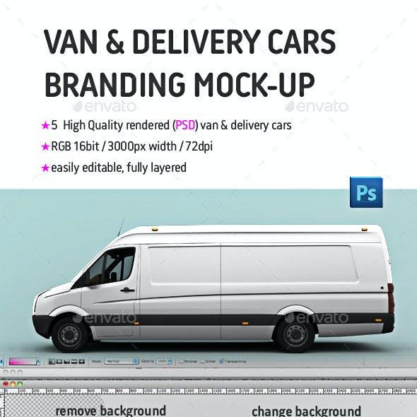 Van & Delivery Cars Branding Mockup