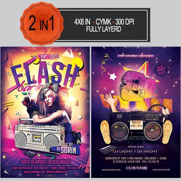 Flash Back 80s/90s Flyer Bundle