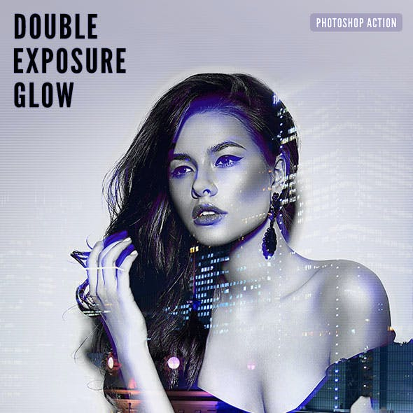 Double Exposure Glow Photoshop Action