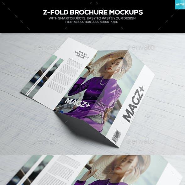 Z-Fold Brochure Mockups