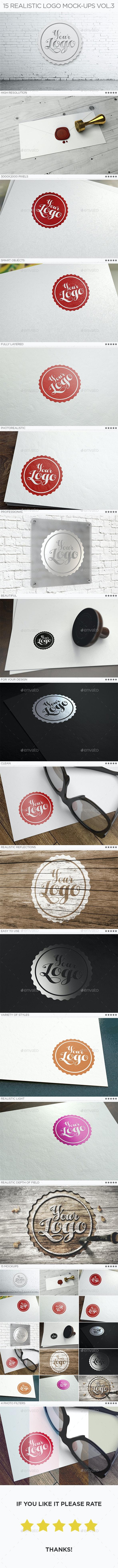 15 Realistic Logo Mock-Ups Vol.3 - Logo Product Mock-Ups