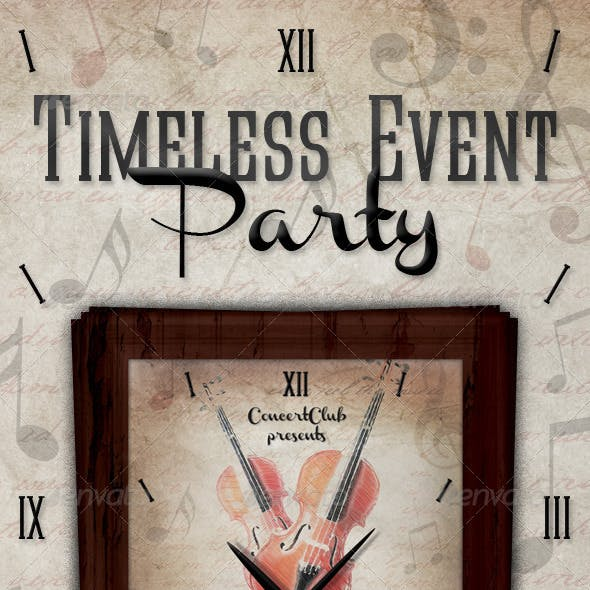 Timeless Pieces Event Flyer