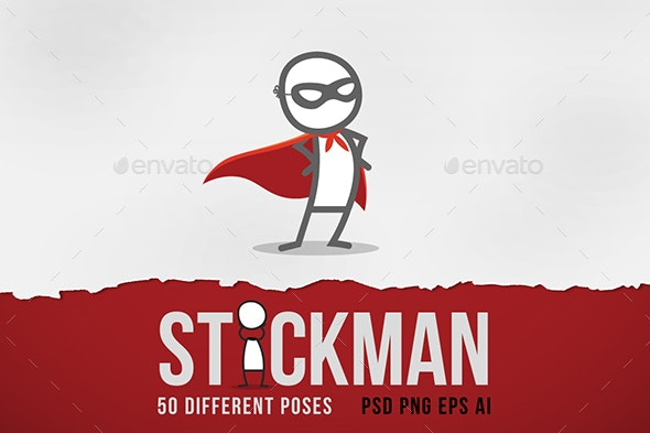 Stickman - Characters Illustrations