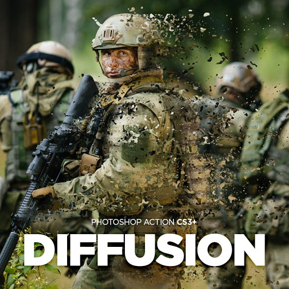 Diffusion Photoshop Action CS3+