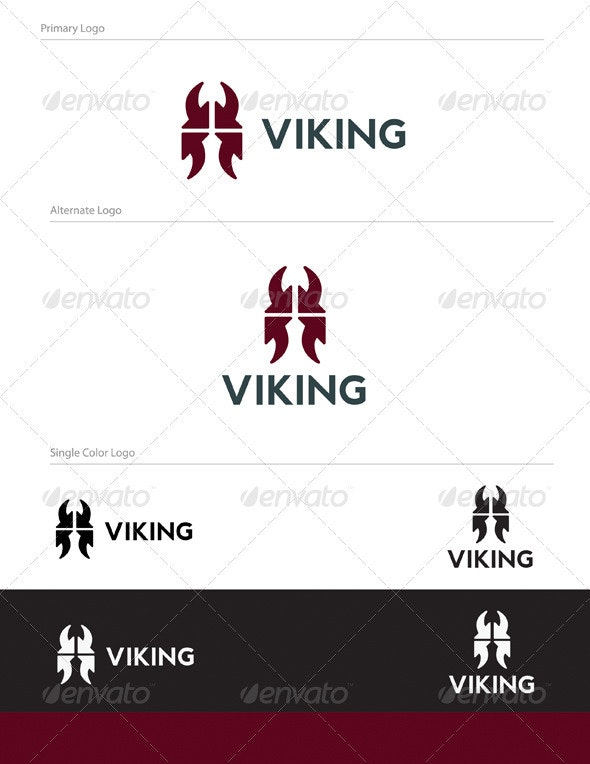 Abstract Viking Logo Design - ABS-017 - Objects Logo Templates