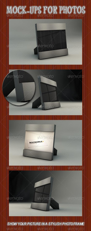 Photo Frame mock-up - Backgrounds Graphics