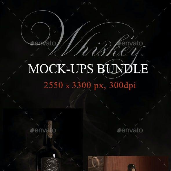 Whiskey Bottle Mock-ups