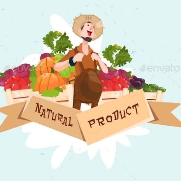 Farmer Vegetable Harvest Natural Product Eco Fresh
