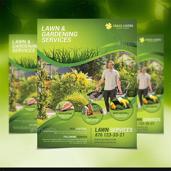 Lawn Services Flyer Templates