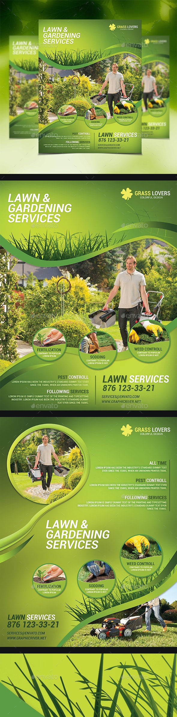 Lawn Services Flyer Templates - Corporate Flyers