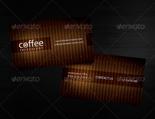 Coffee restaurant Business Card - Industry Specific Business Cards